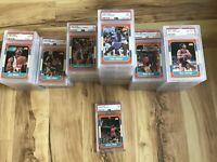 1986 FLEER Basketball Card Complete Set + Sticker Set ALL PSA Graded - Jordan