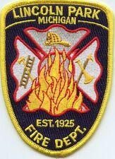 LINCOLN PARK MICHIGAN MI FIRE PATCH