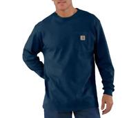 Carhartt Men's Workwear Long sleeve Navy T-shirt K126 $26