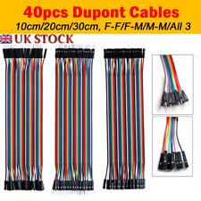 40pc Dupont Jumper Cable Wire Ribbon Pi Arduino M-F  M-M  F-F Breadboard GPIO UK