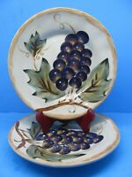 """Tabletops Gallery Napa 9 1/4"""" Salad Plates Set Of 2 Plates Hand Painted"""