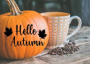 Halloween Pumpkin Stickers Vinyl Decals Window Wall Decorations Autumn