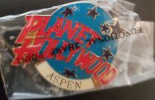 Planet Hollywood Pin / Badge Aspen Classic Light Blue Globe Logo