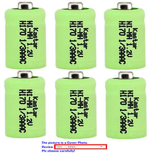 Kastar 1/3 AAA 1/3AAA 170 mAh Button Top MiMH Battery for Solar Lights