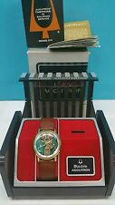 VINTAGE BULOVA ACCUTRON SPACEVIEW 1960S WATCH 10K Y GOLD FILLED BEZEL Box paper