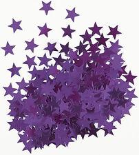 Sterne Konfetti Sternchen Streu Deko Metallic Lila Basteln Weihnachten 1cm Ø