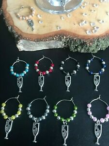 Set of 10 Wine Glass Charms Party Wedding Etc: