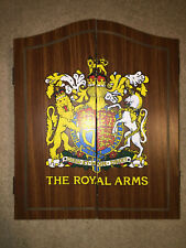 New listing Vintage THE ROYAL ARMS Wooden Dart Board games