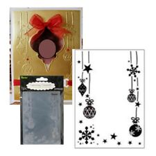 Christmas Ornament Star Snowflake Frame Embossing Folder 1215-65 Darice Holidays