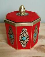 Vintage Blue Bird Confectionery Tin Harry Vincent Limited England, Red Octagon
