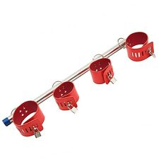 Spreader Bar With Hammock Lifting Ankle Adjustable Cuffs Leather Product Red NEW