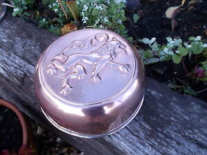 Unusual Rare Dragon French Vintage Deep Copper Jelly Pie Mold Ref MP/190d