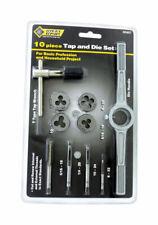 Steel Grip  Steel  SAE  Tap and Die Set  10 pc.