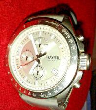 Original FOSSIL DECKER Chronograph Mens Watch CH2573, Quadrante Argento,10ATM