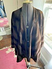 Cape Poncho Shawl Winter Browns  Beautiful Soft Faux fur Adrienne Landau