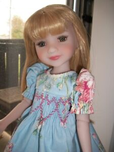 "14"" Ruby Red Fashion Friends Special ""Blue Rose"" Smocked Dress   NO DOLL"