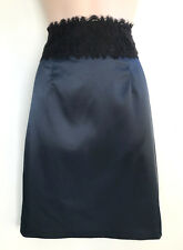 REVIEW Lace Wasit Pencil Skirt Stretchy Deep Teal Colour Exposed Zipper sz 8