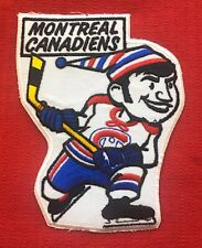 """VINTAGE 1970's MONTREAL CANADIENS PATCH Measures 6.5"""" x 5"""" STILL NEW NEVER USED"""