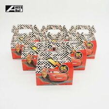 6x Disney Cars Party Loot Lolly Box Bag. Supplies Bunting Flag Cake Banner
