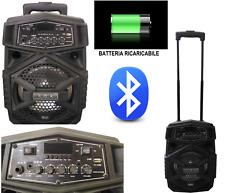 "CASSA PORTATILE AMPLIFICATA 300W 8"" BLUETOOTH + BATTERIA + USB/SD + DISPLAY"