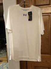 Nwt Under Armour Heat Gear Mens White Short Sleeve Crew T Shirt X Large New Xl