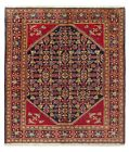 5 x 6 Hand Knotted Navy Red Wool Tribal Lilian Antique Area Oriental Rug