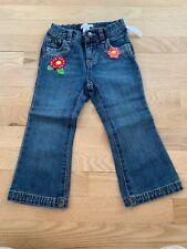 Old Navy Flower Jeans 2T Adjustable Waist