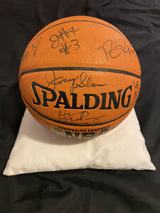 Utah Jazz Signed Basketball 2008 Team, Includes Jerry Sloan And D Will