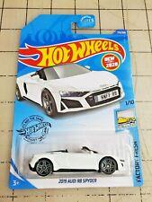 Hot Wheels 2019 Audi R8 Spyder White Factory Fresh 1/10 NEW