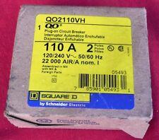 NEW SQUARE D PLUG-IN CIRCUIT BREAKER QO2110VH 110A 240V 2POLES, 785901054931