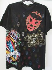 Rare Christian Audigier Por Vida Polo Black Color Sz. Xxl Ed Hardy