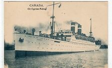 SS CANADA: SHIPPING POSTCARD (C4195).