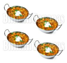 4 LG 18cm X Balti Dish Curry Bowls Kalai Serving Dishes Bowl