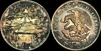"""1967 MEXICO 20 CENTAVOS """"CENTS"""" HIGH QUALITY TONED COIN"""