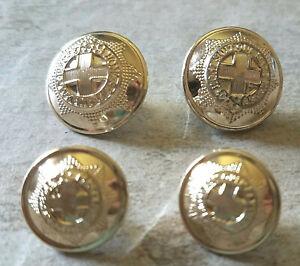 4 HONI SOIT QUI MAL Y PENSE Buttons Vtg New London FIRMIN  Blazer Badge  Lg - Sm