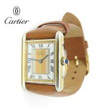 NYJEWEL Must de Cartier 925 Vermeil Womens Tank Quartz Watch