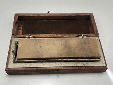 Vintage Norton Oak Case with Reversible Oilstones India & Soft Arkansas