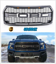 2015-2017 Ford F-150 F150 Raptor Style Conversion Front Grille Grill W/F&R/LED