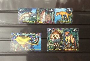Australia 1997 Creatures of the Night Complete Set 6v MNH