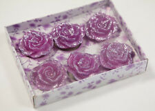 Floating Rose Glitter Flower Candles Pack of 6 Home Decor Wedding Events