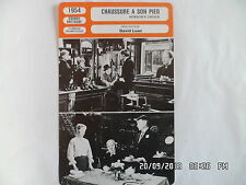 CARTE FICHE CINEMA 1954 CHAUSSURE A SON PIED Charles Laughton John Mills