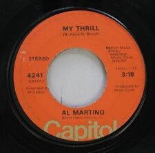 Pop 45 Al Martino - My Thrill / The More I See You On Capitol Records, Inc