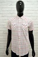 Camicia DIESEL Uomo Taglia Size M Maglia Shirt Man Manica Corta Cotone a Quadri