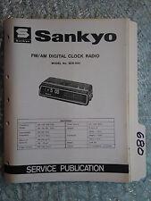 Sankyo scr-500 service manual original repair book am/fm digital clock radio