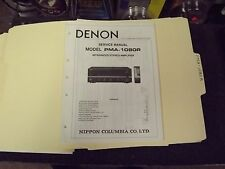 Denon PMA-1080R Service Manual-factory Original