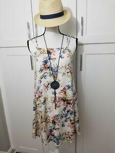 O'NEILL Women's Size XS Tank Dress White Floral Mini A line