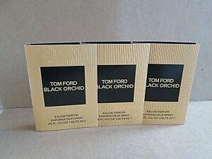 SET OF 3 TOM FORD BLACK ORCHID EAU DE TOILETTE SPRAY SAMPLES NEW VIALS ON CARDS