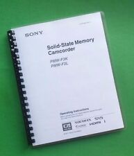 LASER PRINTED Sony PMW F3K F3L Video Camera 166 Page Owners Manual Guide