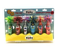 KOOKY KLICKERS 6 pk KREW 34 Selena Special Edition GIFT PENS Belt Clip PARTY PEN