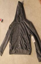 Canyon River Blues Velour Hoodie Gray Girls Plus XL18 1/2 MSRP $30 Now $16